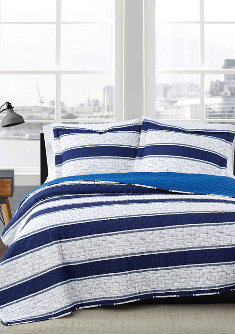 American Traditions™ Watkins Stripe Quilt Set