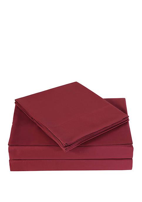 Burgundy Sheet Set