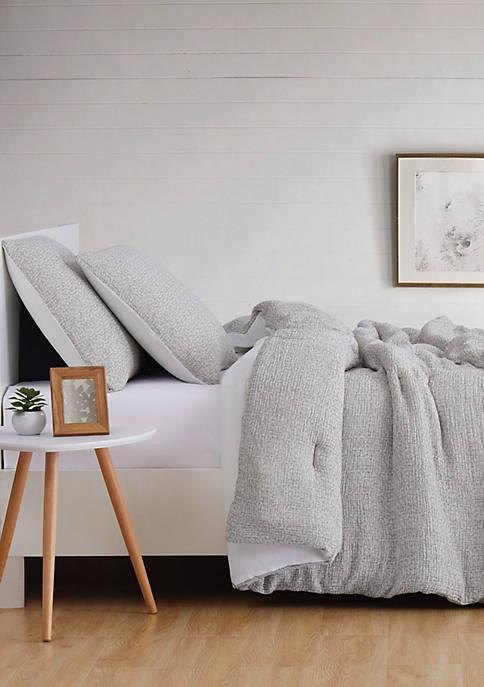 Brooklyn Loom Solid Woven Matelasse Comforter Set
