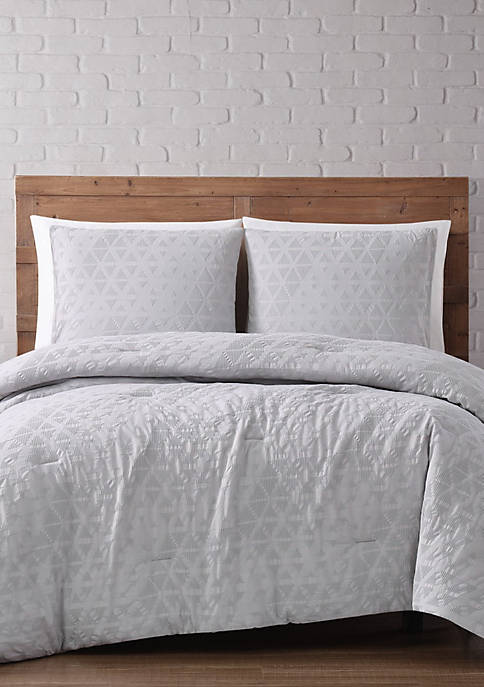 Brooklyn Loom Chicago Woven Diamond Comforter Set