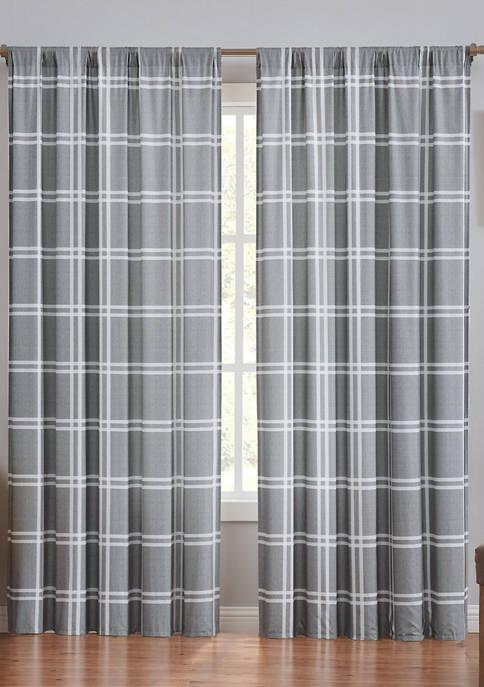 Leon Plaid Window Panel Pair