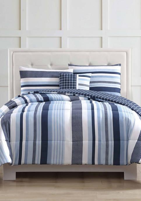 My World® Mason Stripe Comforter Set