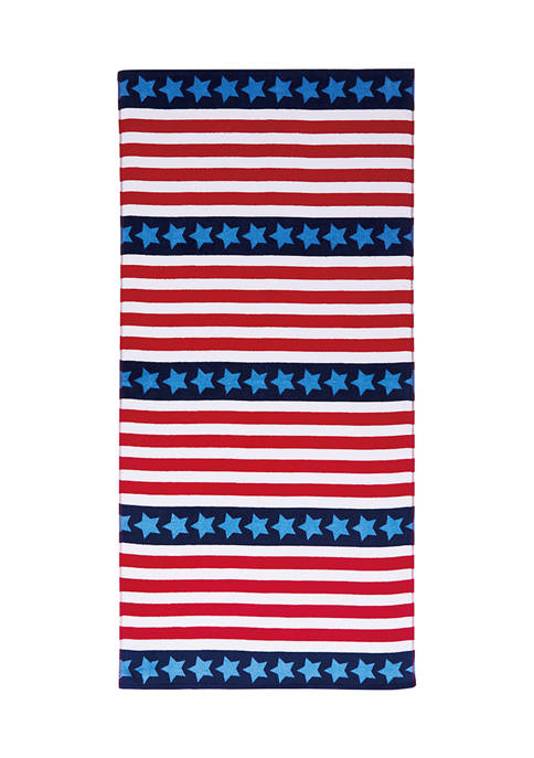 American Traditions™ Americana Stars and Stripes Beach Towel