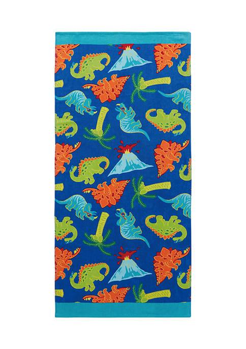Printed Dinosaurs Beach Towel