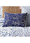 Indienne Paisley Embroidered Floral Decorative Pillow