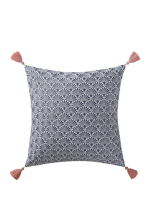 Oceanfront Resort Indienne Paisley Embroidered Scallop Decorative
