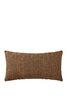 Indienne Paisley Raffia Bolster Pillow