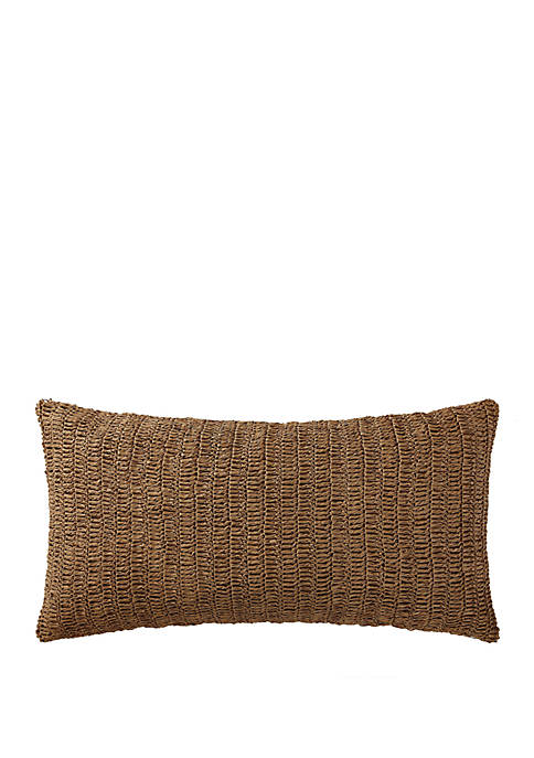 Indienne Paisley Raffia Bolster Pillow