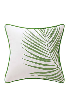 Coco Paradise Embroidered Palm Decorative Pillow