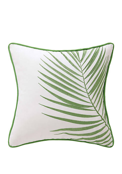 Oceanfront Resort Coco Paradise Embroidered Palm Decorative