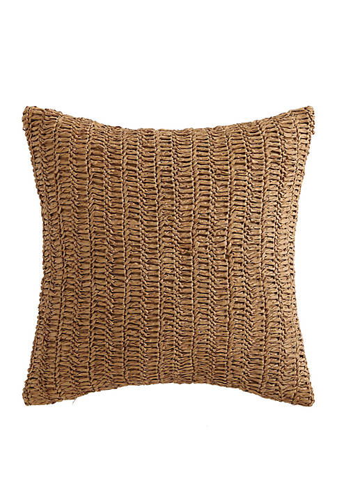 Oceanfront Resort Coco Paradise Raffia Decorative Pillow