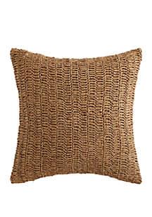 Oceanfront Resort Coco Paradise Raffia Decorative Pillow