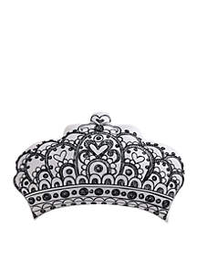 Unicorn Princess Printed Crown Pillow