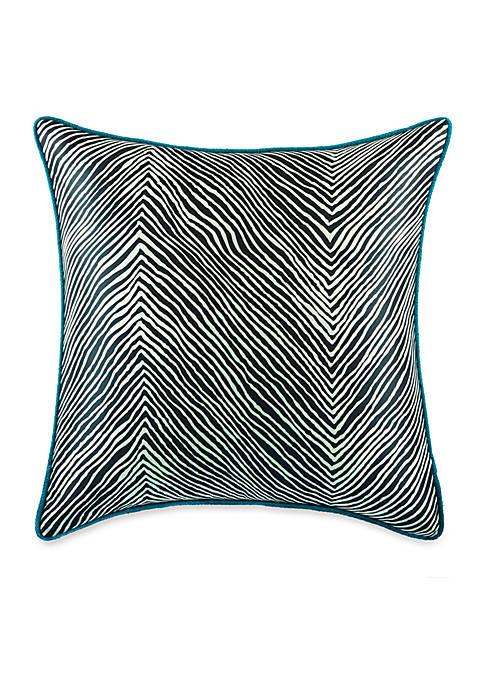 Devon Multi Zebra Print Decorative Pillow 16-in. x