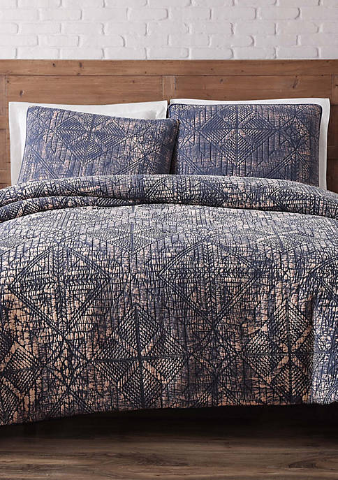 Brooklyn Loom Sand Washed Full/Queen Comforter Set Indigo