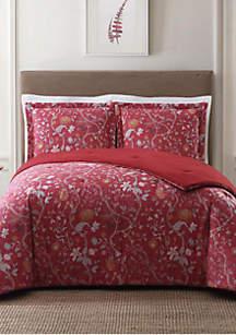 Bedford Red King Comforter Set