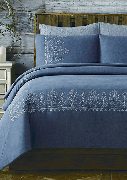 Cottage Classics™ Chambray Cotton Comforter Set
