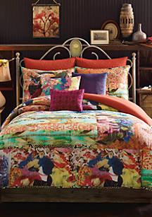Willow Multicolored King Comforter Set 110 In X 96