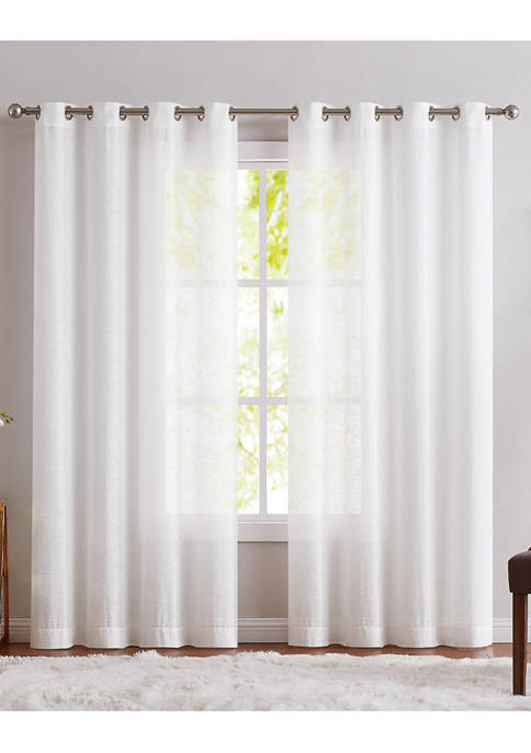 Charisma Home Sheer Collection Window Panel Pair