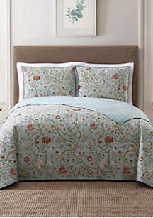 Bedford Blue Twin XL Quilt Set