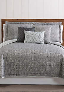 Style 212 Calista Printed Medallion Queen Quilt Set