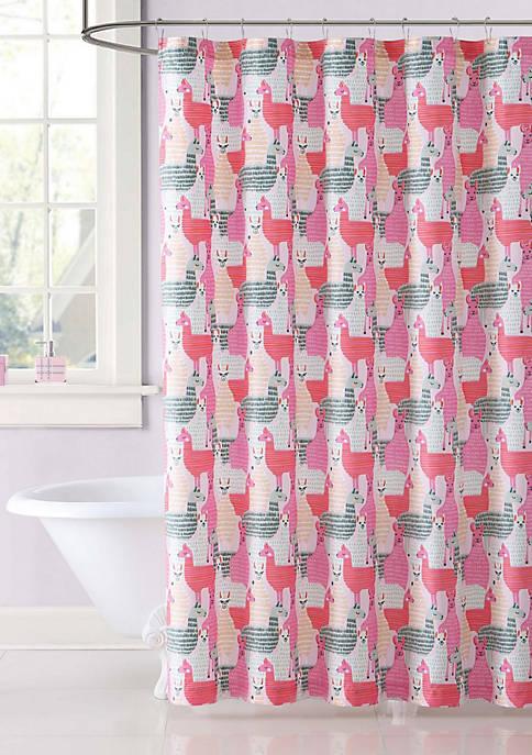Llama Llama Printed Shower Curtain