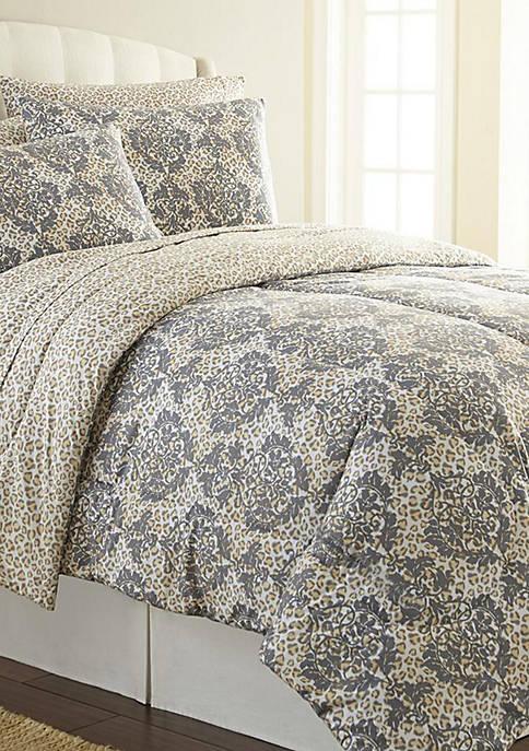 Micro Flannel® Leopard Damask Comforter Set