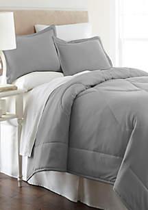 Micro Flannel Solid Comforter Set