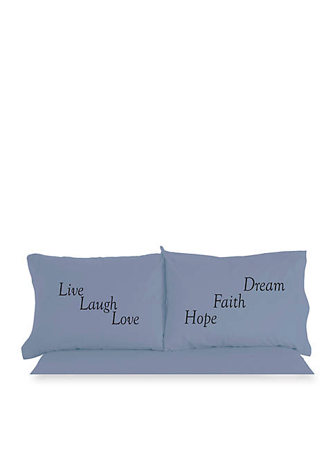 Shavel Micro Flannel Live Love Laugh Inspirational Novelty