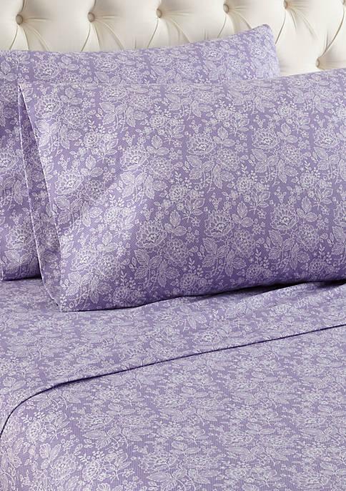 Micro Flannel Enchantment Violet Sheet Set