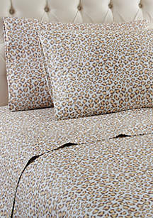 Micro Flannel Leopard Sheet Set