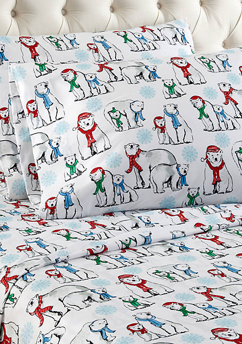 Micro Flannel Polar Bears Sheet Set