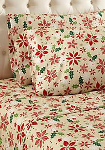 Poinsettia Sheet Set