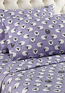 Sheep Lavender Sheet Set