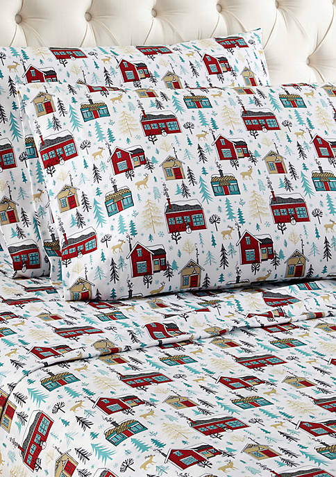 Micro Flannel Cabins Sheet Set