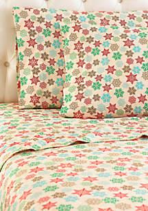 Micro Flannel® Snowflake Sheet Set