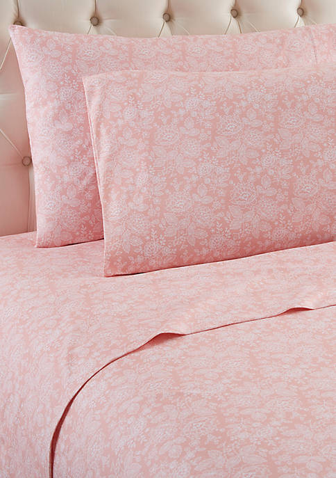Shavel Micro Flannel Enchantment Rose Sheet Set