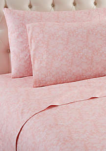 Micro Flannel Enchantment Rose Sheet Set