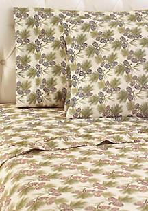 Pine Cone Micro Flannel Sheet Set