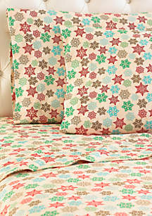 Micro Flannel® Snowflake Sheet Set