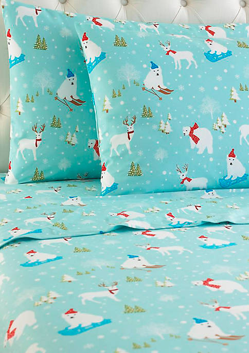 Shavel Micro Flannel Fun in the Snow Sheet