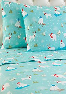 Micro Flannel Fun in the Snow Sheet Set