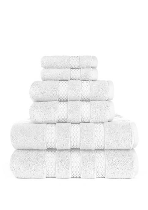 Estella Lynx Fine Zero Twist 6 Piece Bath Towel Set