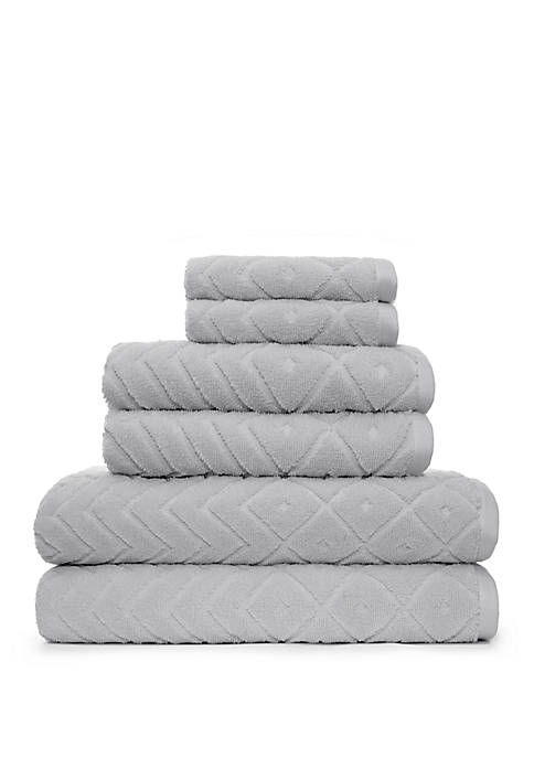 American Dawn Mabel 6 Piece Bath Towel Set