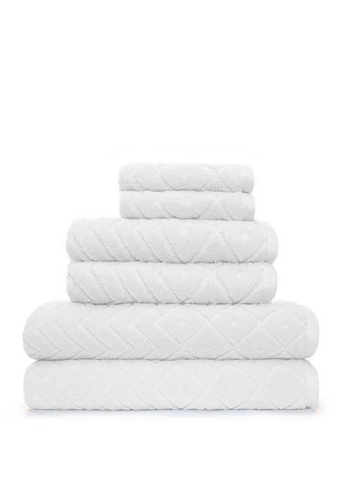 American Dawn Mabel 6 Piece Bath Towel Set