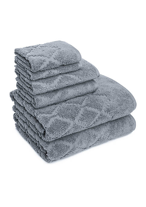 American Dawn Hart Diamond Six-Piece Towel Set