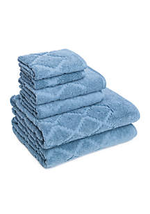 Hart Diamond Six-Piece Towel Set
