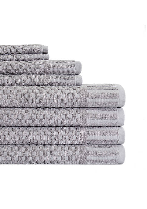 American Dawn Milo Hotel Luxe 8-Piece Textured Towel