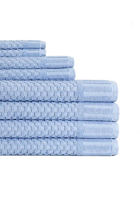 American Dawn Milo Hotel Luxe 8-Piece Textured Towel
