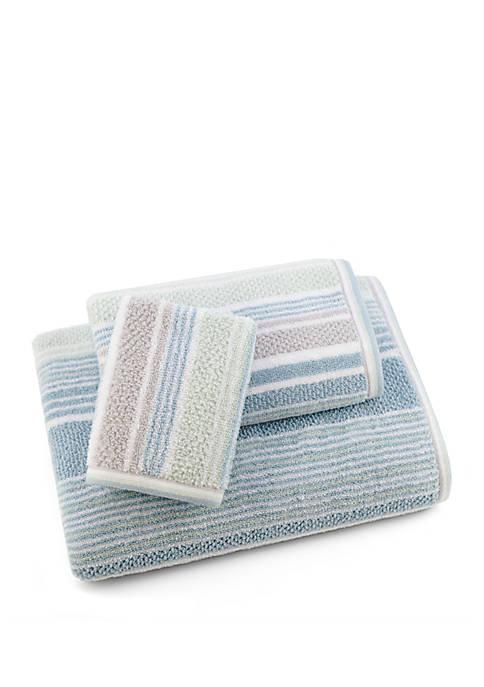 American Dawn Trimont Stripe 3 Piece Bath Towel